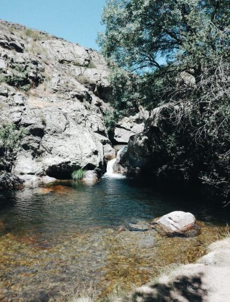 Las Calderas, Cambrones River. Segovia Spain